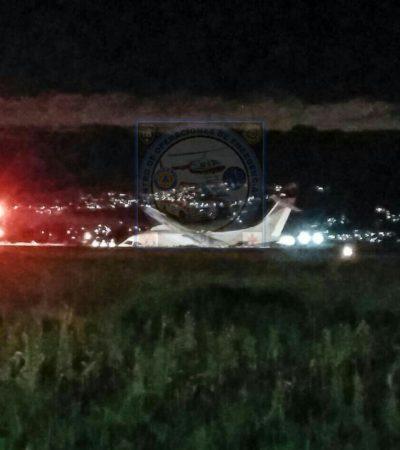 Se despista avión en aeropuerto de Toluca procedente de Chetumal; que no llevaba pasajeros