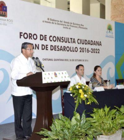 Inician los foros para elaborar el nuevo Plan Estatal de Desarrollo de Quintana Roo