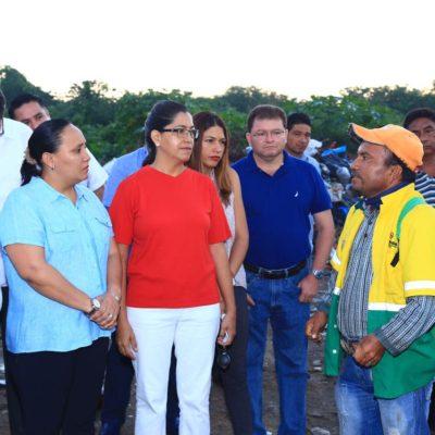 Toma Cristina primeras medidas de orden y asegura que en una semana se regularizará el servicio de limpia en Solidaridad