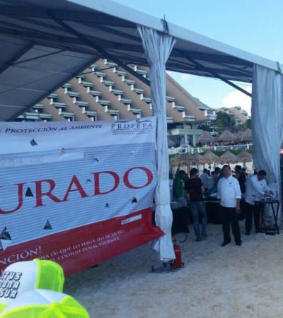 SE LES VINO ABAJO LA 'FIESTA' EN LA PLAYA: Clausura Profepa evento en la Zona Hotelera de Cancún
