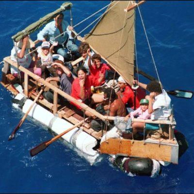 Rescatan a otro grupo de balseros cubanos al sur de isla Contoy