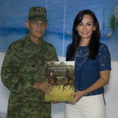 Se reúne Alcaldesa de Puerto Morelos con comandante militar de Cancún