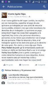 """""""¡LA QUINCENA SE PAGA, ESTÚPIDOS!"""": Despiden a esposa de magistrado, yerno de Eduardo Ovando, y truena contra el nuevo Gobierno de QR"""