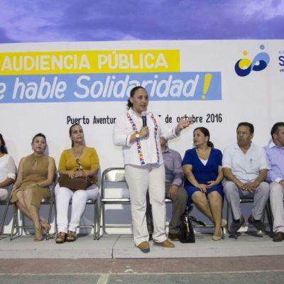 Retoma Cristina Torres audiencias públicas en Puerto Aventuras; piden vecinos alumbrado, recolección de basura y seguridad