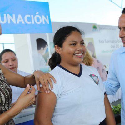 Inaugura Carlos Joaquín en Chetumal semana de vacunación México-Belice