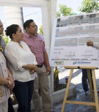 Con dinero de la IP, ampliarán carretera federal entre Avenida Juárez y el Centro Maya en Playa