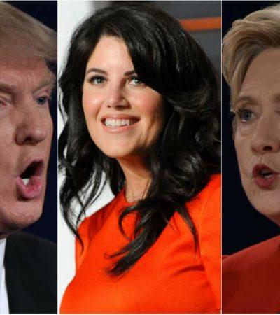 CAMPAÑA DE LODO EN EU: El caso Lewinsky amenaza con resurgir en el debate entre Trump y Hillary este domingo