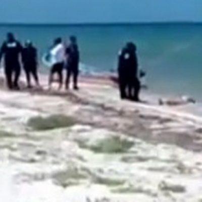 Encuentran cadáver de mujer presuntamente asesinada en playa de Telchac Puerto