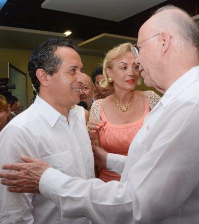 Dice Carlos Joaquín que la salud será una prioridad de su gobierno; recibe a Narro en Cancún