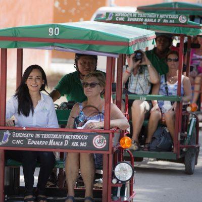 GENERA TURISMO BIENESTAR: Convive Alcaldesa de Puerto Morelos con 50 turistas de Bélgica que visitan la comunidad de Leona Vicario