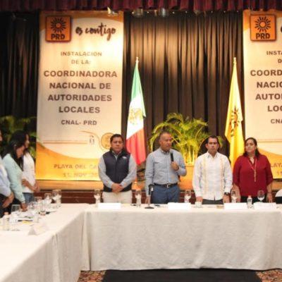 Instala PRD Coordinadora Estatal de Autoridades Locales en Quintana Roo