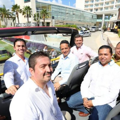 TIENE CANCÚN SU PROPIO TURIBÚS: Inauguran nuevo transporte turístico para recorrer el centro y la Zona Hotelera