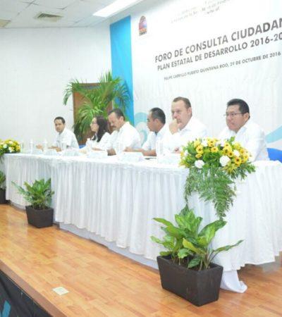 Reciben más de mil 100 propuestas durante foros ciudadanos para elaborar el Plan Estatal de Desarrollo