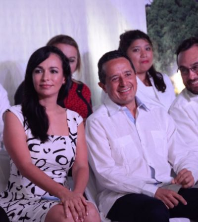 PRIMER ANIVERSARIO DEL MUNICIPIO DE PUERTO MORELOS: Dice Gobernador que vienen mejores oportunidades para la gente