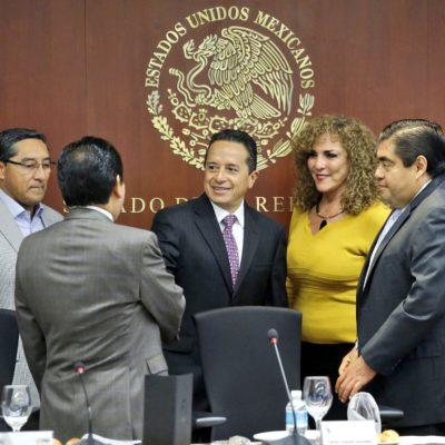 """""""NO PODEMOS PERMITIR LA IMPUNIDAD"""": Ante diputados federales, Carlos Joaquín dice que """"en breve"""" tendrán conclusiones por """"el saqueo sufrido"""""""