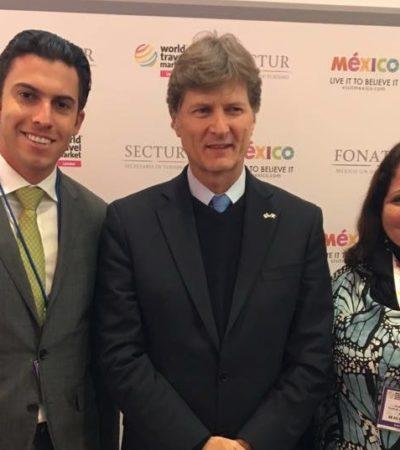 'BORJAZO' DE 'REMBY' EN LONDRES: Viaja Alcalde de Cancún casi 8 mil kilómetros para ver al secretario de Turismo… ¡de México!