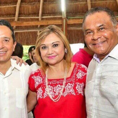 COMO SI TODOS FUERAN DEL MISMO EQUIPO: Devuelve Carlos 'cortesía' a Hendricks y acude a fiesta del ex mandatario priista en Chetumal