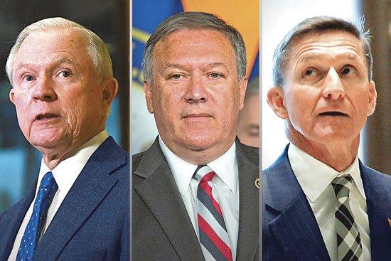 Los tres racistas declarados de Trump que dirigirán Justicia, la CIA y Seguridad Nacional