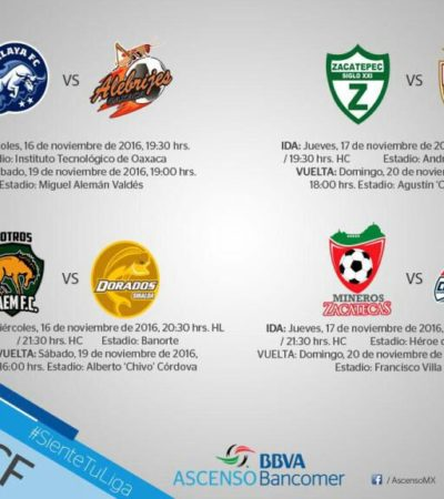 Definidos los cuartos de final de la Liga de Ascenso MX