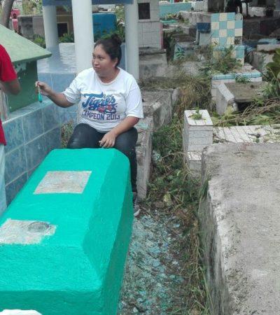 """""""SI EN VIDA NOS TRATAN MAL, IMAGÍNATE YA MUERTOS"""": Van por enésimo rescate de panteones en Cancún… al menos una vez al año"""