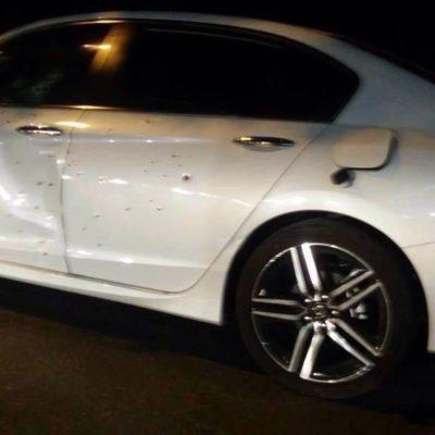 SIGUE LA VIOLENCIA EN CANCÚN | MATAN A BALAZOS A HERMANO DE FUNCIONARIA EN LA KABAH: Rafaguean vehículo a la salida de una gasolinera