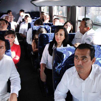 Cabildea Laura Fernández con diputados actualización de valores catastrales en Puerto Morelos