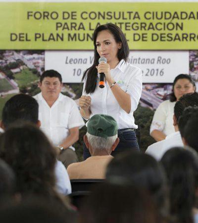 Inicia Laura Fernández los foros para el Plan de Desarrollo Municipal de Puerto Morelos