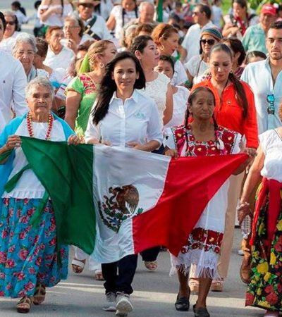 Realizan desfile de la Revolución en Puerto Morelos