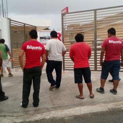 CRISIS EN LOS MEDIOS DEL BORGISMO: Protestan trabajadores del diario 'Respuesta' por 3 semanas sin cobrar