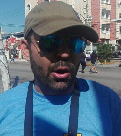 """""""ME VAN A FICHAR, VA, ÓRALE, FICHENME"""": Detienen al activista Arne Aus den Ruthen, durante una jornada contra los 'gandallas' en Cancún"""