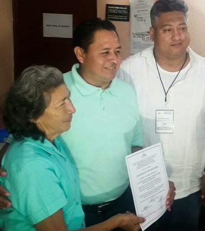 Eligen como nuevo delegado en Leona Vicario a Leovín Moisés Medina Cahuich