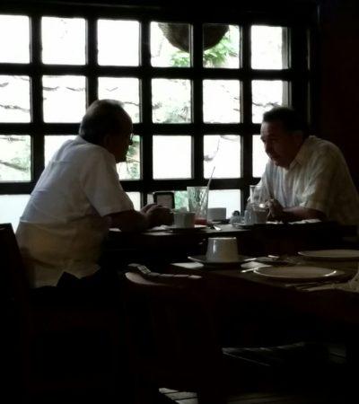 """REUNIÓN A CONTRALUZ EN CHETUMAL: Secretario de Gobierno visita a líder de Morena para discutir """"temas que tienen afectación en el estado"""""""