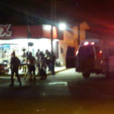 SIGUE LA INSEGURIDAD EN CANCÚN: Hieren a un hombre en un asalto a comercio en la Región 95