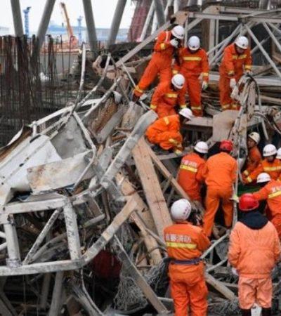 Colapsa torre de termoeléctrica en China con saldo preliminar de 40 muertos