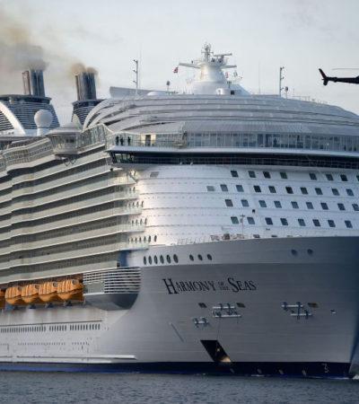 RECIBE COZUMEL AL MÁS GRAN DE LOS CRUCEROS: Por primera vez, atraca el 'Harmony of the Seas' con 8 mil 794 personas en la Isla de las Golondrinas