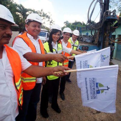 Da Laura Fernández banderazo a construcción de pozos de absorción en Leona Vicario