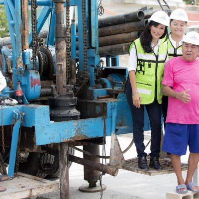 Invierten 830 mil pesos para construir pozos de absorción en Puerto Morelos y Leona Vicario