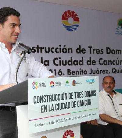 Anuncia Remberto Estrada que en total se construirán 10 domos deportivos en su gobierno en Cancún
