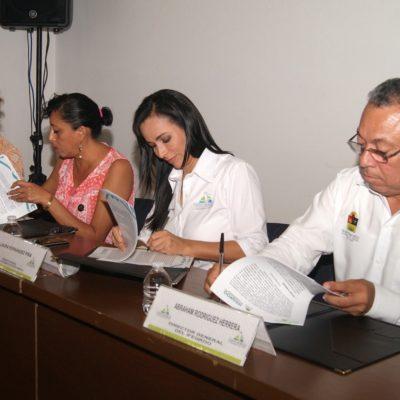 Suscribe Alcaldesa convenio para mejorar condiciones de seguridad, operatividad y funcionalidad en escuelas de Puerto Morelos