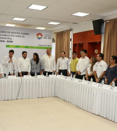 SESIONA EL COPLADEMUN: Aprueban aumento de 70.3 mdp al programa de inversión de Benito Juárez