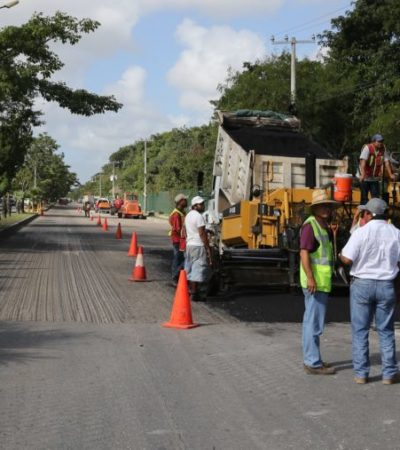 Anuncia Remberto Estrada para 2017 obras de construcción y repavimentación en avenidas claves de Cancún