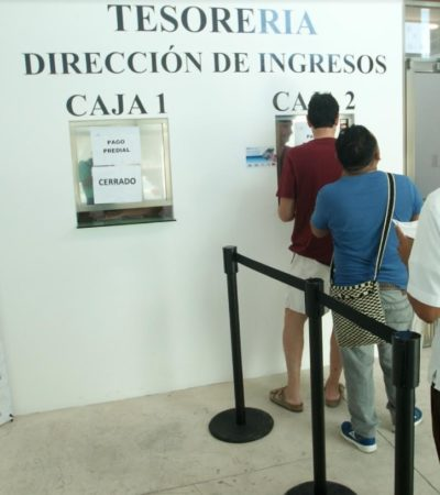 Aseguran que hay buena respuesta en el pago anticipado del predial en Puerto Morelos