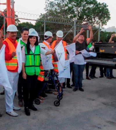 Comienzan repavimentación y construcción de banquetas y guarniciones de la Avenida Zetina Gasca en Puerto Morelos
