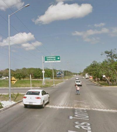 Retirarán 25 topes de la Avenida Las Torres en Cancún