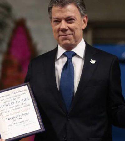 """""""EL VERDADERO PREMIO ES LA PAZ DE MI PAÍS"""": Recibe Juan Manuel Santos el Nobel por el proceso de paz en Colombia"""