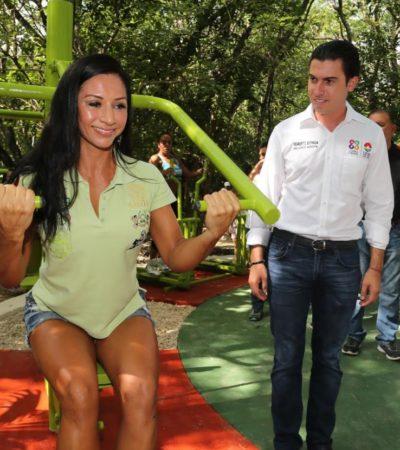 Construirá Remberto Estrada 11 domos deportivos y 9 canchas de pasto sintético en 2017, dice