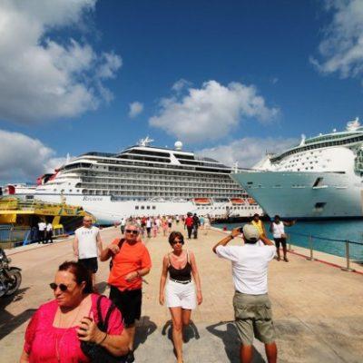 REPUNTA ARRIBO DE CRUCEROS: Llegarán a Cozumel 32 navíos y 11 a Mahahual