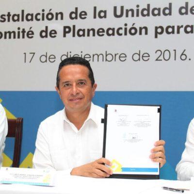 Instala Carlos Joaquín la Unidad de Control y Evaluación del Comité de Planeación para el Desarrollo del Estado