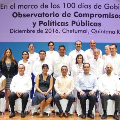 """""""NUESTRO GOBIERNO DEBE SER CADA DÍA MÁS HORIZONTAL"""": Instala Carlos Joaquín el 'Observatorio de Compromisos y Políticas Públicas'"""
