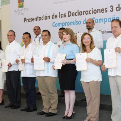 Suma Carlos Joaquín a funcionarios de su gabinete al esquema '3 de 3'